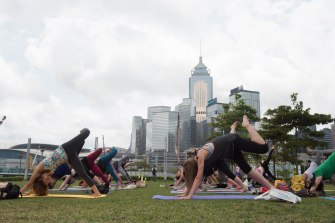 20150502 - Cora Tamar Park Yoga II - 138