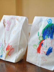art lunch bags